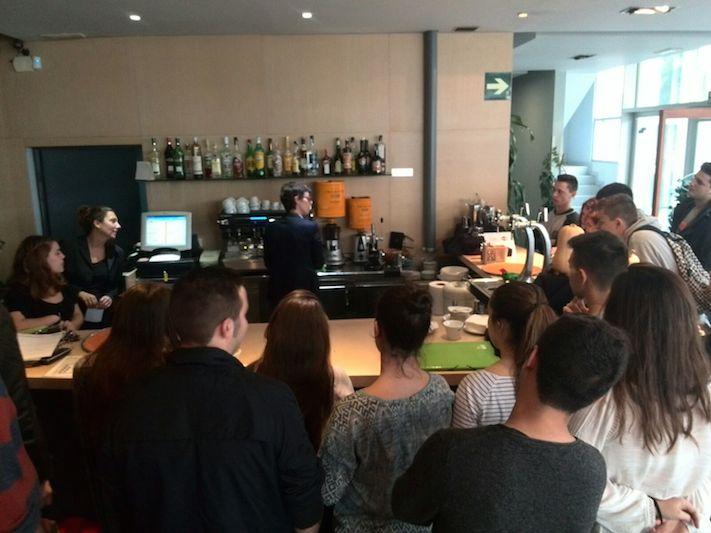 Café Saula ensenya els cinc fonaments d'un Espresso a l'ESHOB