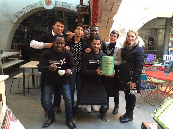 Espai Mescladís rep formació barista de Café Saula