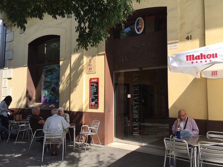 La Unión Coral, bar histórico de Sant Feliu de Llobregat