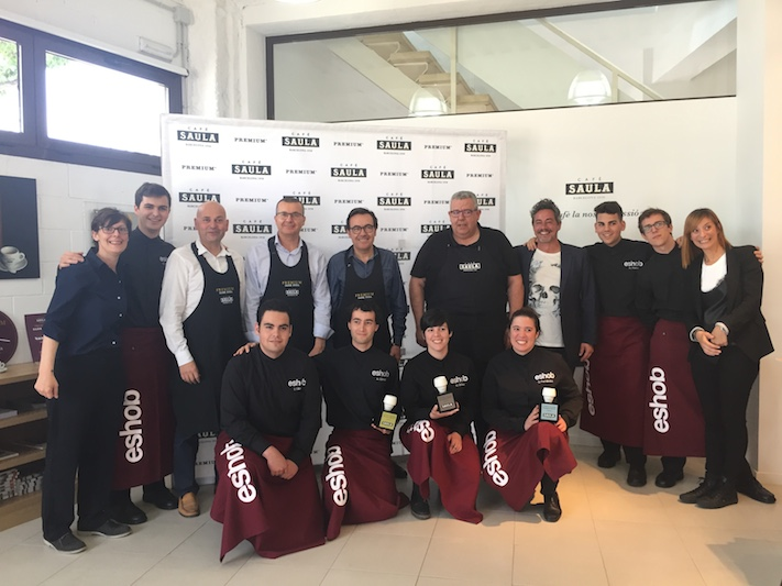 Albert Gómez, Uxué Fernández y Mireia Girbau, ganadores del I Concurso 'El Sommelier del Café'