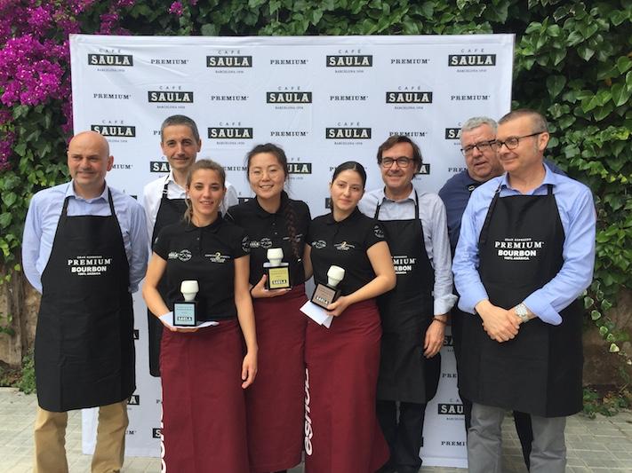 María Salom, Claudia Capella i Ana Balseca, guanyadores del II concurs 'El sommelier del cafè'