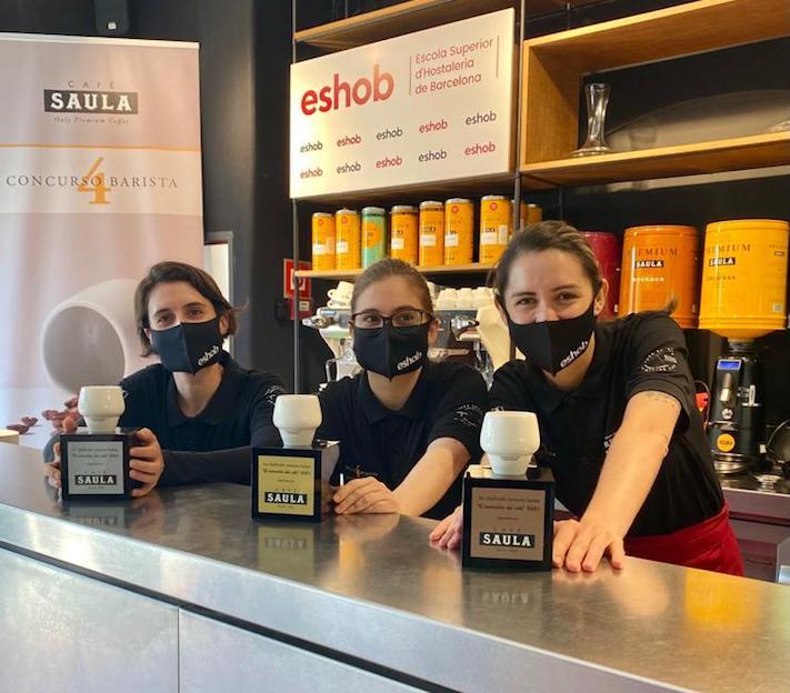 Elena Poyato, Ane Goyenechea y Rossana Nava, ganadoras del IV concurso El Sommelier del Café