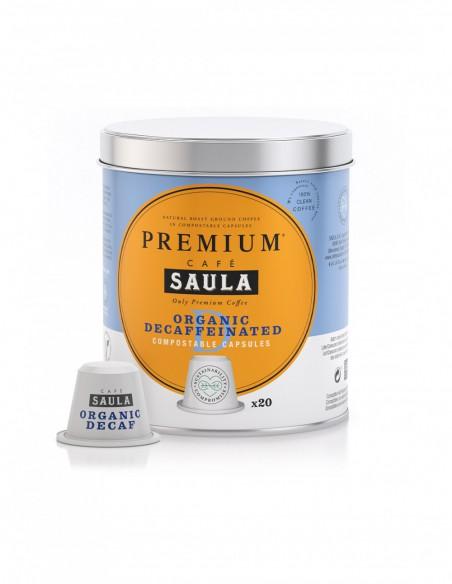 Cápsulas café descafeinado Saula