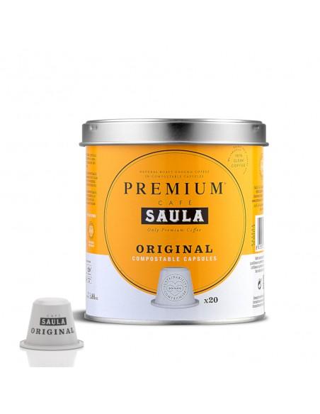 Cápsulas café original Saula